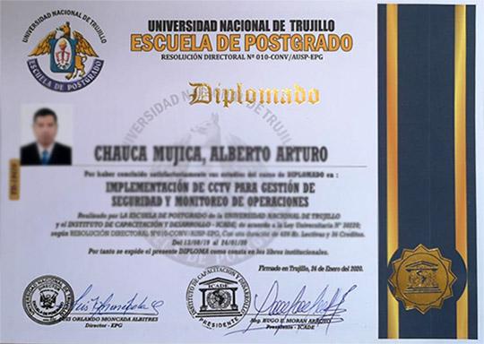 Diploma con valor oficial